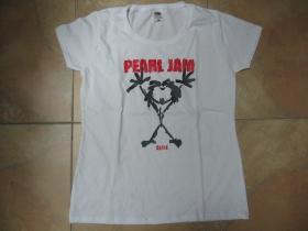 Pearl Jam  biele dámske tričko 100%bavlna
