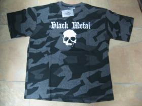Black Metal  nočný maskáč-Nightcamo SPLINTER, pánske tričko 100%bavlna
