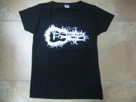 Anti Flag čierne dámske tričko 100%bavlna značka Fruit of The Loom