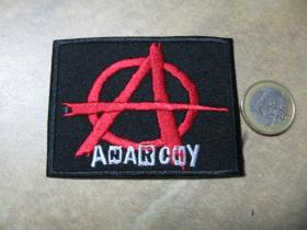 Anarchy nažehľovacia nášivka vyšívaná (možnosť nažehliť alebo našiť na odev)
