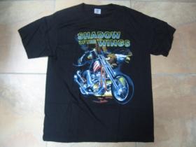 """Shadow of The Wings """" motorkár """" pánske tričko čierne 100%bavlna"""