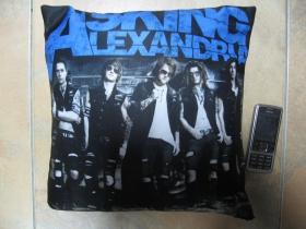 Asking Alexandria, vankúšik cca.30x30cm 100%polyester