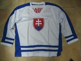 Slovakia - Slovensko biely hokejový dres s obojstranným logom 100%polyester