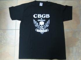 CBGB, club Legend, čierne pánske tričko 100% bavlna
