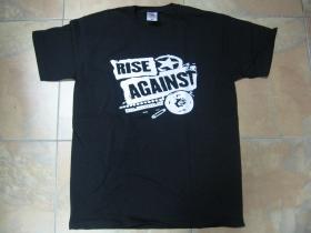 Rise Against čierne pánske tričko 100%bavlna