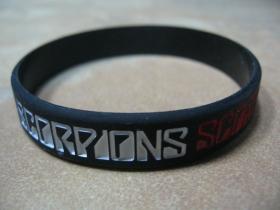 Scorpions pružný silikónový náramok s vyrazeným motívom