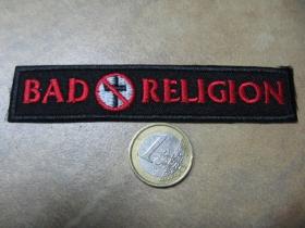 Bad Religion nažehľovacia nášivka vyšívaná (možnosť nažehliť alebo našiť na odev)