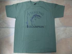 Fishing Champion rybárske tričko pánske 100%bavlna  značka Fruit of The Loom