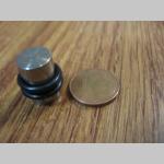 """Tunel """"plný"""" s čiernym gumovým krúžkom materiál chirurgická oceľ priemer 10mm"""