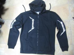 Metallica - Death Magnetic   čierna pánska mikina na zips s kapucou obojstranná potlač 70%bavlna 30%viskóza
