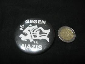Gegen Nazis odznak veľký, priemer 55mm
