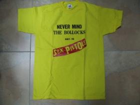 Sex Pistols - Never Mind The Bollocks  žlté pánske tričko 100%bavlna