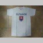 Slovakia - Slovensko tmavomodré pánske tričko 100%bavlna Fruit of The Loom