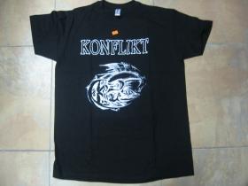 Konflikt čierne pánske tričko 100% bavlna