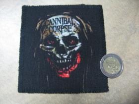Cannibal Corpse nažehľovacia nášivka vyšívaná (možnosť nažehliť alebo našiť na odev)
