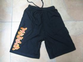 Parkour čierne teplákové kraťasy s tlačeným logom
