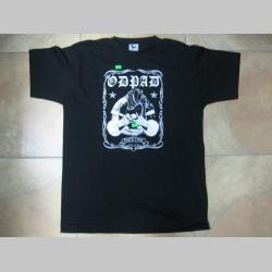 Odpad čierne pánske tričko 100%bavlna