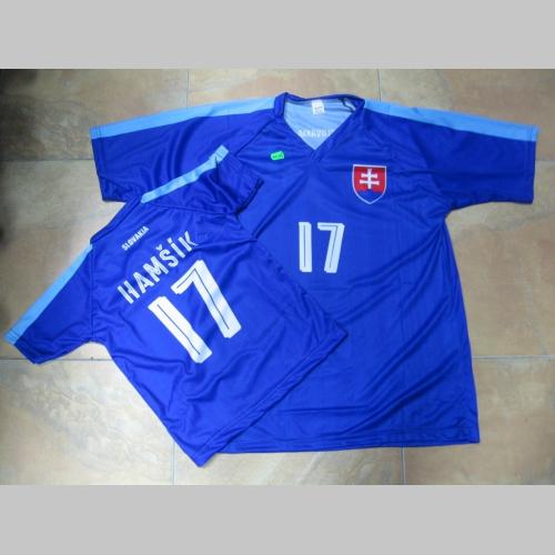 3d67d4aed Slovensko futbalový dres č.17 HAMŠÍK detský aj dospelý strih ...