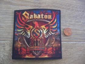 Sabaton ofsetová nášivka po krajoch neobšívaná cca. 9x9cm