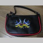 True Love - Swallows - Lastovičky  malá čierna kabelka do ruky materiál 100% PVC rozmery cca. 19x12x5,5cm