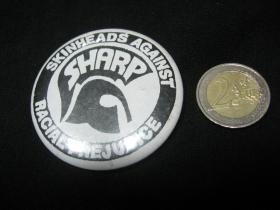 Sharp Skinhead odznak veľký, priemer 55mm