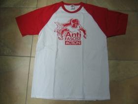 Antifascist action pánske dvojfarebné tričko 100%bavlna značka Fruit of The Loom (viacero farebných prevedení)