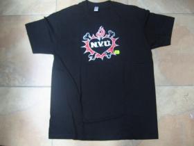 N.V.Ú. čierne pánske tričko materiál 100% bavlna