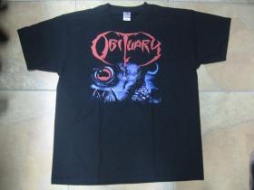 Obituary čierne pánske tričko materiál 100%bavlna