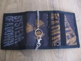 System of a Down - hrubá pevná textilná peňaženka s retiazkou a karabínkou