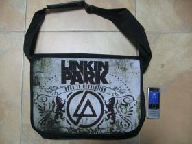 Linkin Park, pevná textilná taška cez plece, nastaviteľná 100%polyester cca.40x30x10cm