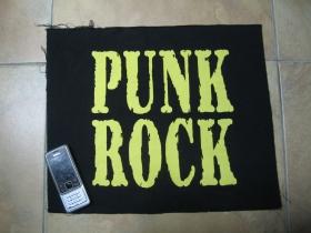 Punk Rock chrbtová nášivka veľkosť cca. 38x32cm (po krajoch neobšívaná)