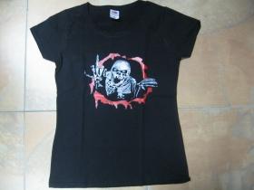 smrtka  čierne dámske tričko Fruit of The Loom 100%bavlna