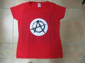 Anarchy ala Sid Vicious červené dámske tričko 100%bavlna Fruit of The Loom