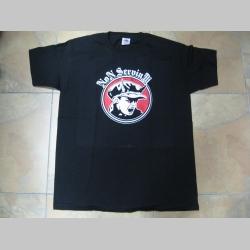 Non Servium čierne pánske tričko 100% bavlna