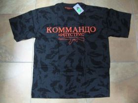 Commando Industries - Kalashnikov pánske maskáčové tričko vzor ruský nočný maskáč Nightcamo farba šedočierna materiál 100%bavlna