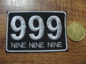 999 Nine Nine Nine vyšívaná nášivka - posledný kus!!!