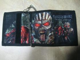 Iron Maiden  hrubá pevná textilná peňaženka s retiazkou a karabínkou