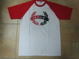 A.C.A.B. pánske červenobiele tričko s čiernym logom 100%bavlna značka Fruit of The Loom (viacero motívov na výber)