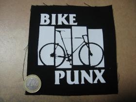 Bike Punx potlačená nášivka rozmery cca. 12x12cm (po krajoch neobšívaná)