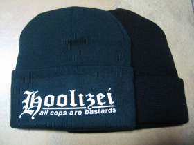 Hoolizei A.C.A.B. tmavozelená zimná čiapka s tlačeným logom univerzálna veľkosť 65%akryl 35%vlna
