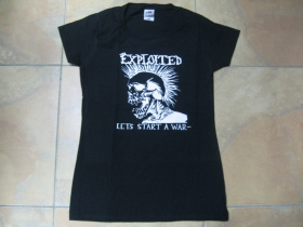 Exploited  - Lets start a War.... dámske tričko 100%bavlna