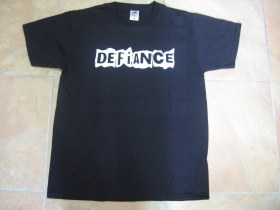Defiance čierne pánske tričko 100 %bavlna