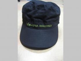 Alpha Industries čierna čiapka typu US s vyšívaným logom 100% bavlna Univerzálna veľkosť vzadu prispôsobivá pohodlná guma