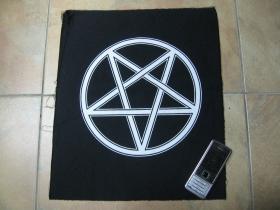 Pentagram  chrbtová nášivka veľkosť cca. A4 (po krajoch neobšívaná)