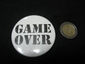 Game Over odznak veľký, priemer 55mm