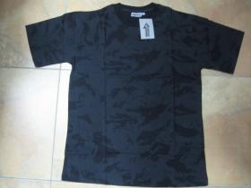Pánske maskáčové tričko vzor ruský nočný maskáč Nightcamo farba šedočierna materiál 100%bavlna