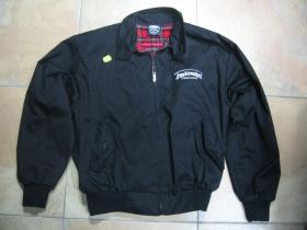 Troublemaker pánska čierna  bunda jar/jeseň s vyšívaným logom a s podšívkou červené káro TARTAN  posledný kus veľkosť M
