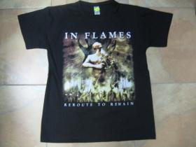 In Flames čierne pánske tričko 100%bavlna