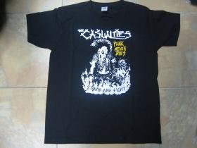 The Casualties čierne  pánske tričko 100%bavlna
