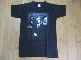 Nirvana čierne pánske tričko materiál 100% bavlna